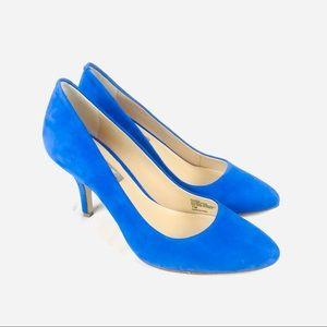 NEW! INC something blue leather heels